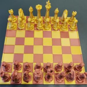 """Schachspiel """"LowPoly"""""""